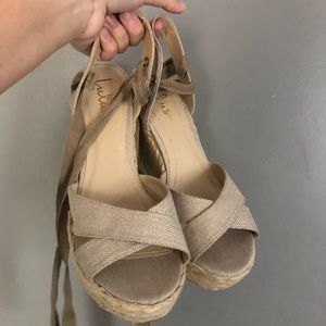 Women's Lace up Wedges